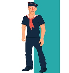 Standing sailor charcter vector