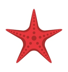 Star fish animal beach icon vector