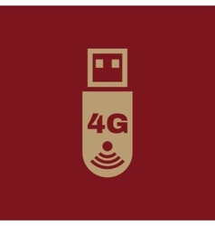 The 4g adapter icon transfer and connection data vector