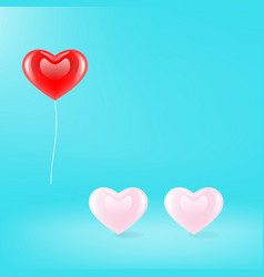 three hearts icon vector image