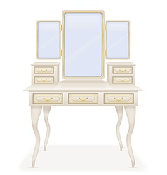 Vanity table 01 vector