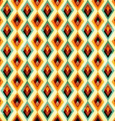 vintage diamond seamless pattern vector image vector image