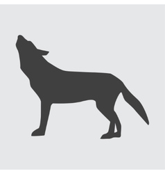 Wolf icon vector
