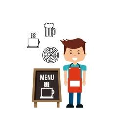 delicious menu restaurant urban vector image