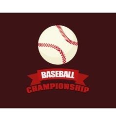 Baseball championship ball vector