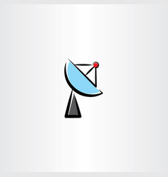 satellite antenna icon clip art vector image