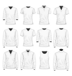 T-shirt polo shirt and other vector