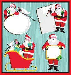santa claus banners and tags vector image
