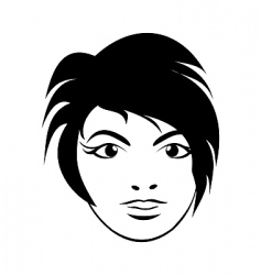 Girl face close up vector