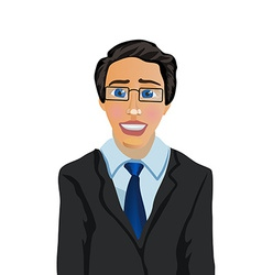 Cartoon character businessman manager vector