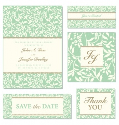 ivy wedding frame set01 vector