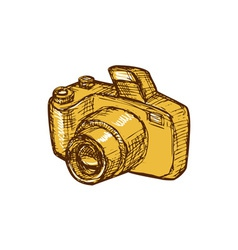 Digital camera drawing vector