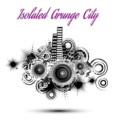 Isolated grunge city vector