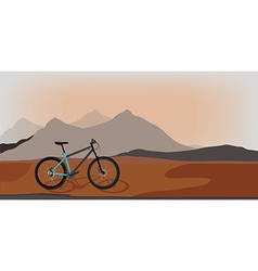 Bicycle in mountan landscape vector image
