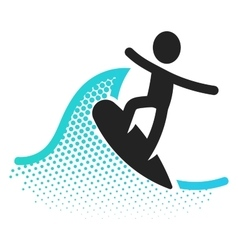 Surfing icon vector