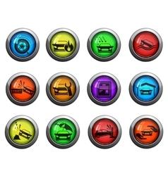Car insurance icons set vector
