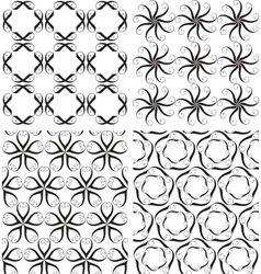 Four seamless patterns vector image