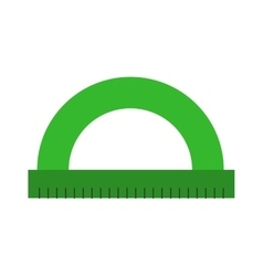 Round ruler tool flat icon vector