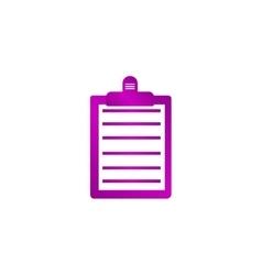 Personal organizer flat design style vector