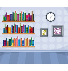 A set of different books vector image