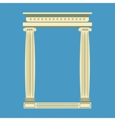 Antique marble temple front with ionic columns vector image vector image