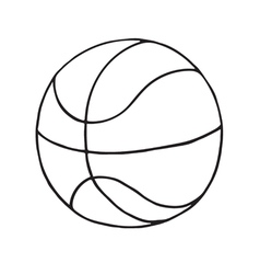 Basketball ball icon outlined vector