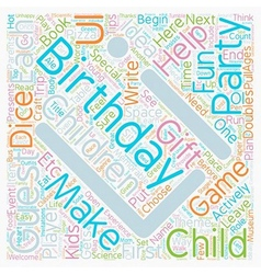 Birthday Party Ideas for Children Ages text vector image vector image