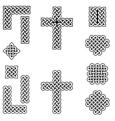 Celtic style endless knot symbols vector