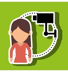 character camera secure protection vector image