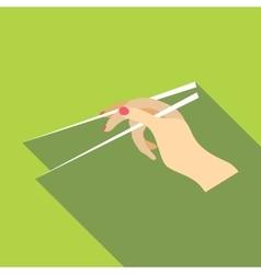 Chopsticks icon flat style vector