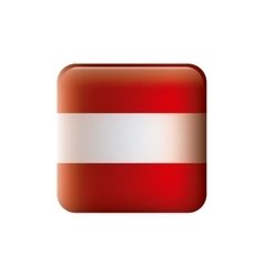 Color silhouette with flag of austria in square vector