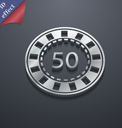 Gambling chips icon symbol 3D style Trendy modern vector image