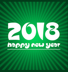 happy new year 2018 on green stripped background vector image vector image