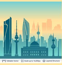 Kuwait famous view vector