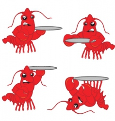 Lobsters vector