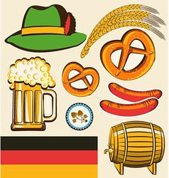 oktoberfest festival objects for design isolated vector image