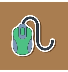 Paper sticker on background of computer mouse vector