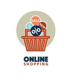 sale in online store vector image vector image