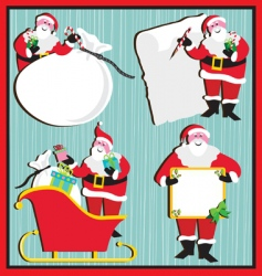 santa claus banners and tags vector image vector image