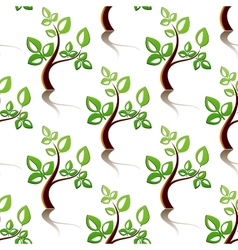 Seamless pattern of little trees vector image vector image