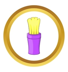 Shaving brush icon vector