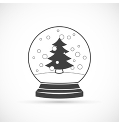 Snowball icon vector