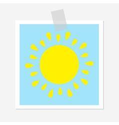 Sun shining icon Cute cartoon image Greeting card vector image vector image
