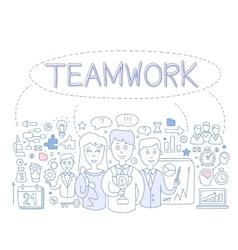 Teamwork infographics vector