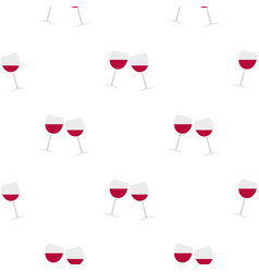 Two glasses of red wine pattern seamless vector