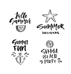 Unique summer lettering vector