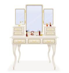 Vanity table 02 vector