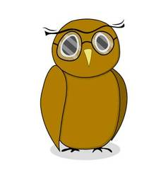 Wise owl with glasses vector image