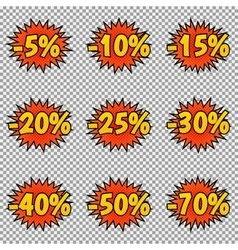 Pop art discount labels vector