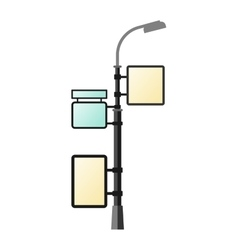 Street lamp silhouette vector image